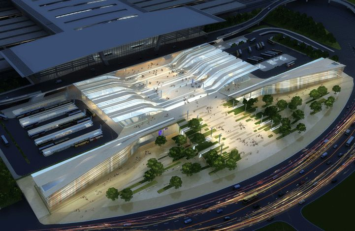 Tianjin Binhai Transport Interchnage by HASSELL | Projects