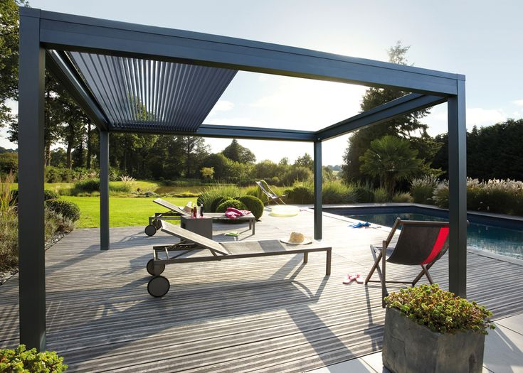 Pergola bioclimatique retractable Pergoklim de Soliso