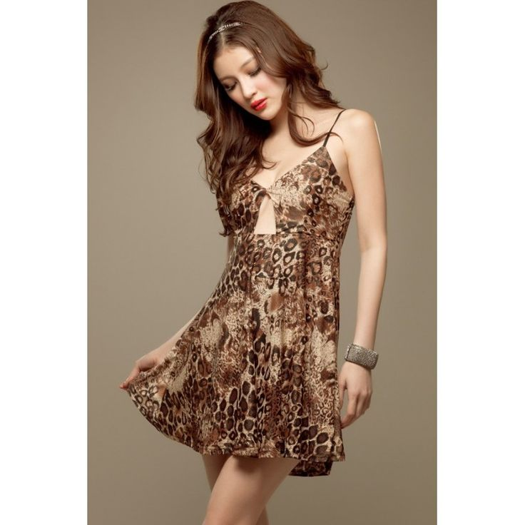 Leopard Leather Sexy Mini Dress MD325 Condition  New  MD325 Brand RJ STORY Material bronzing leather flexible length67(excluding shoulder with length) bust64-84cm Retail IDR158,000	Reseller IDR118,500	Wholeseller IDR98,750