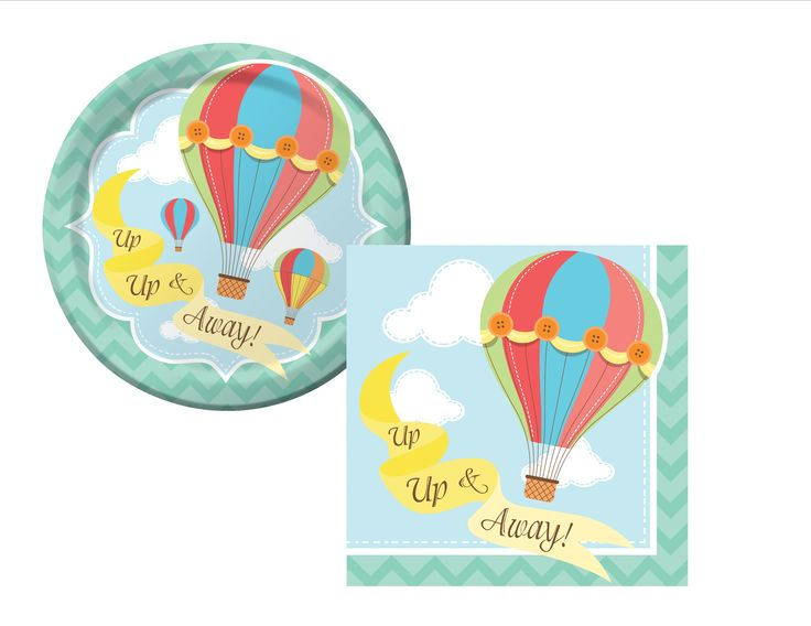 Hot Air Balloons Plates/Napkins