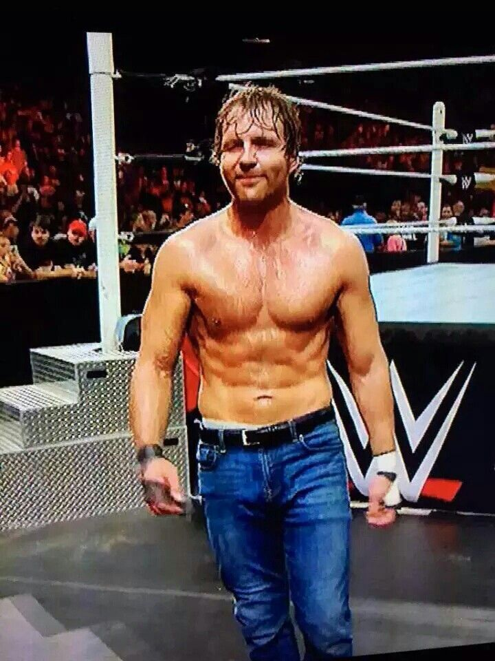 Dean Ambrose has ABS FOR DAYS<3