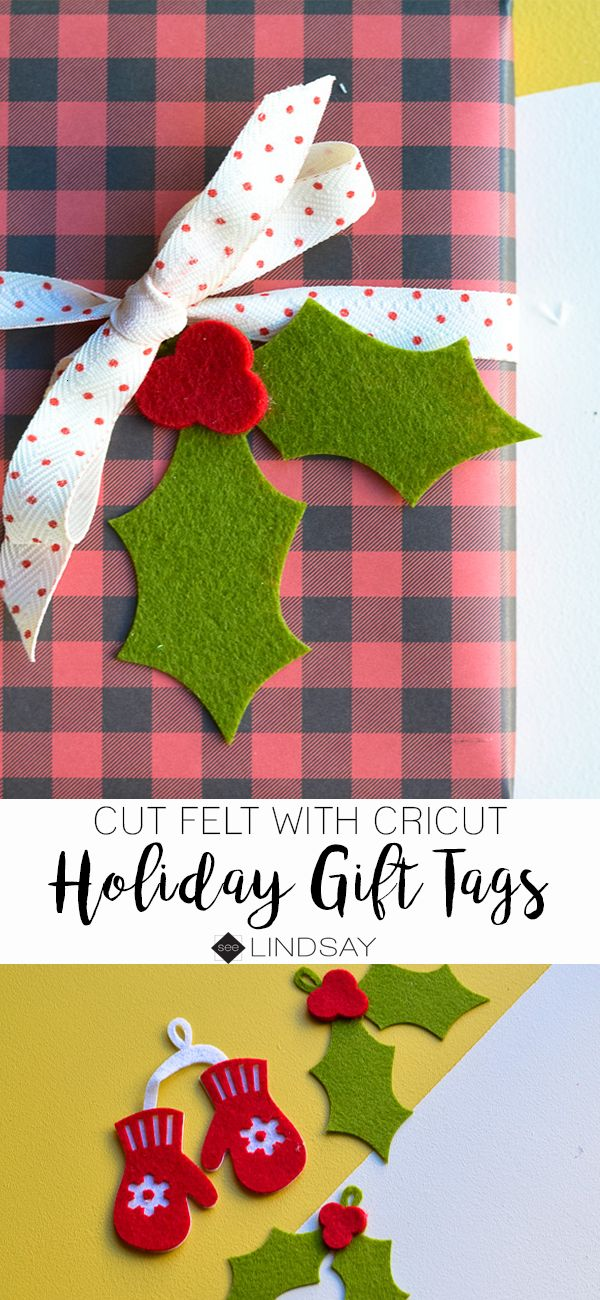 Cut felt with your Cricut Maker and make Holiday Gift Tags