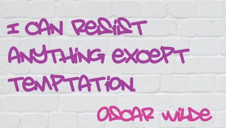 Oscar Wilde quote - #temptation