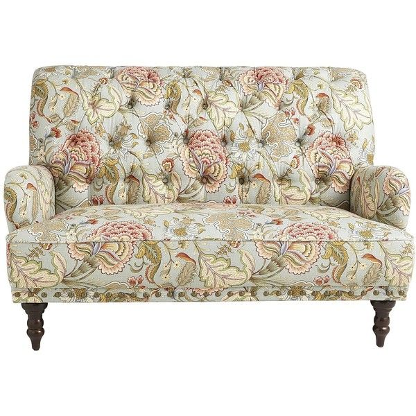 Pier One Chas Loveseat Blue Meadow 600 Found On Polyvore