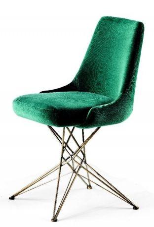 """Con gambe """"tridimensionali"""" realizzate con fili metallici: sedia Athena by Mauro Lipparini per Arketipo"""