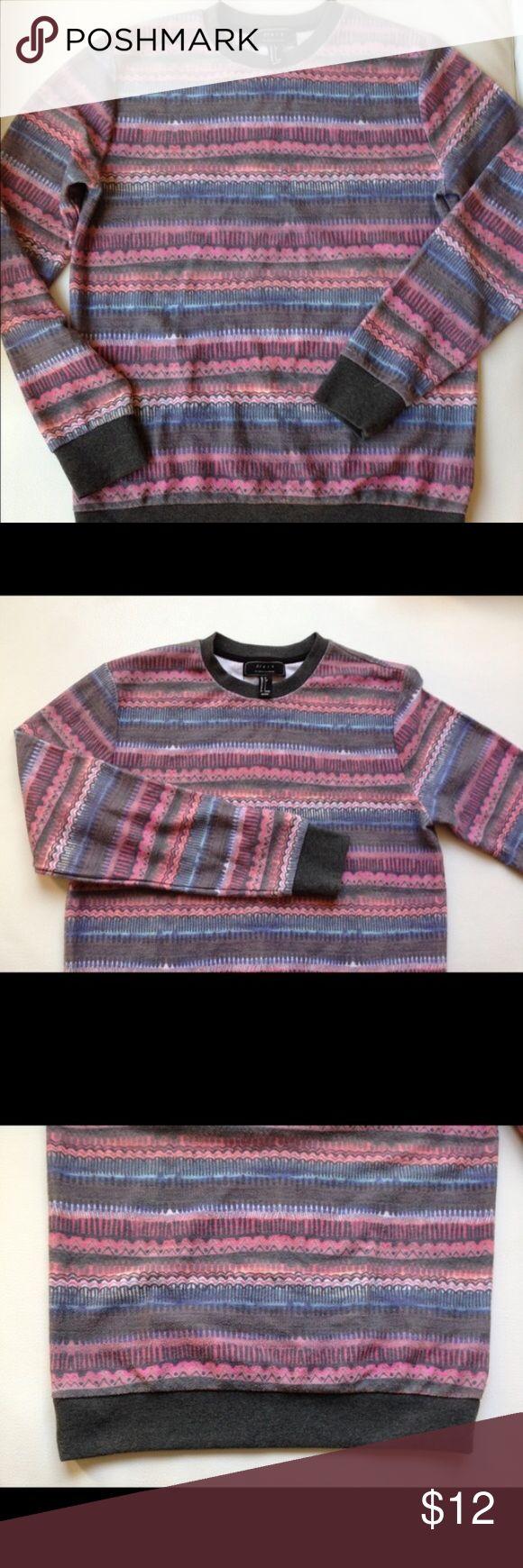 21men Tribal Crewneck sweatshirt - S Pink/orange/blue tribal sweatshirt. Brand new never worn. Excellent condition! 21men Shirts Sweatshirts & Hoodies