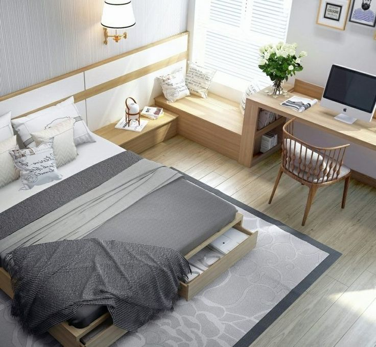 Schlafzimmer einrichten - Bett mit Bettkasten und Sitzbank