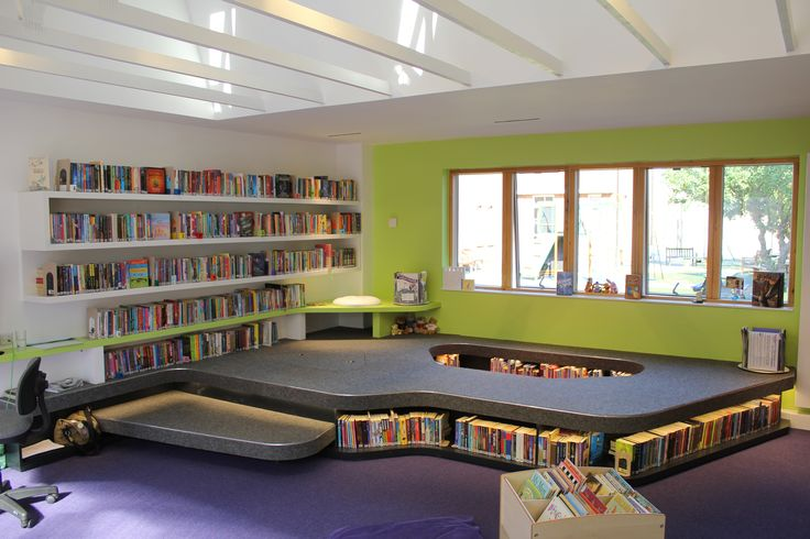 open light room with secret reading spaces