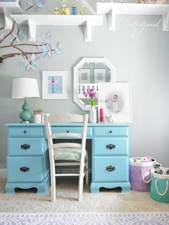 Centsational Girl » Blog Archive » Lavender + Blue Girl's Room
