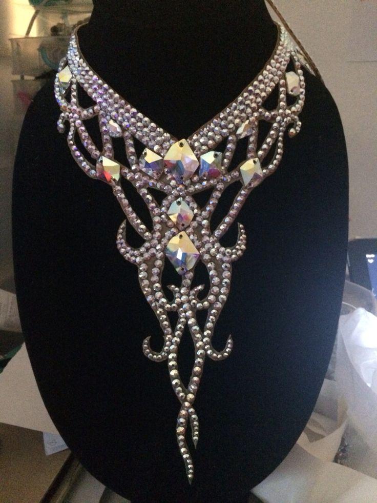 Swarovski necklet for dancesport , ballroom dance By Pakaorn Kuituan ( Best Design Dancewear )