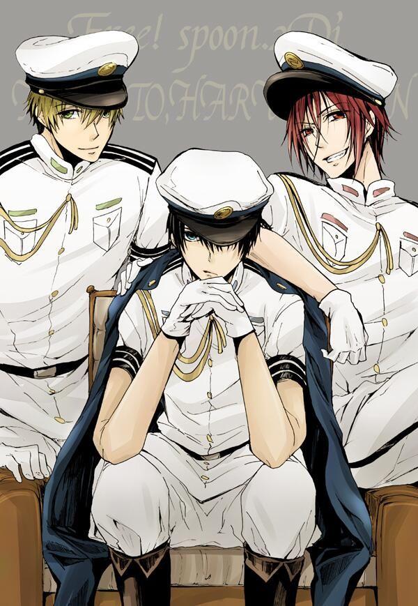 Free! ~~ mmmm wow :3 Makoto, Rin, Haruka