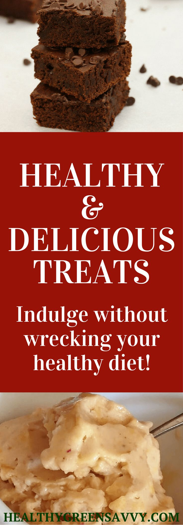 Healthy treats can help keep you on track with your healthy eating goals. Here are some delicious buthealthier ways to treat yourself! Click to read more or pin to save for later.