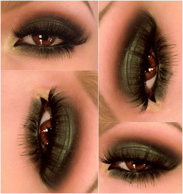 Exotic Green on Brown Eyes! Love it try? Try it: Mary Kay® Mineral Eye Color Emerald (Shimmer), Mary Kay® Mineral Eye Color Espresso (Matte), Mary Kay® Mineral Eye Color Gold Coast (Shimmer), Mary Kay® Eyeliner Deep Brown, and NEW! Mary Kay® Lash Love® Lengthening™ Mascara I ♥ Brown