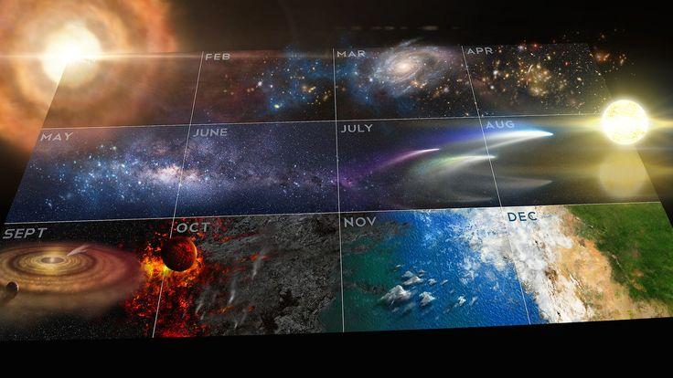Cosmos a Spacetime Odyssey: Cosmic Calendar Wallpaper