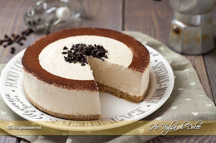 Torta fredda allo yogurt e caffè