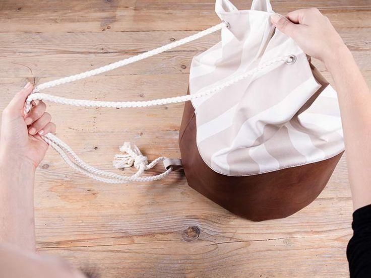 DIY tutorial: Hippe plunjezak van kunstleer naaien via DaWanda.com