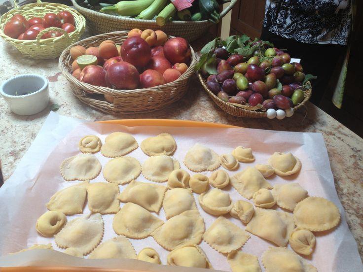 The colors of an Italian kitchen. In Paciano, Italy. @fontanaro, organic farm & villas in Umbria - Tuscany organic farm house & country houses in Tuscany Umbria