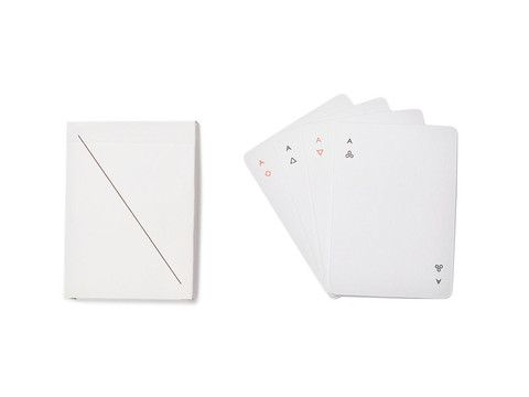 Playing cards don't get more minimal than this! We kind of love how simple they are. For the minimalist in your life :)