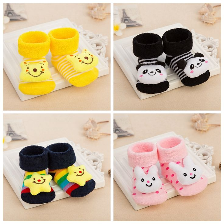 10 Colors Newborn Baby Socks  Cute Toy design  Children's Socks Baby Boy Girls Anti Slip Socks For Kids