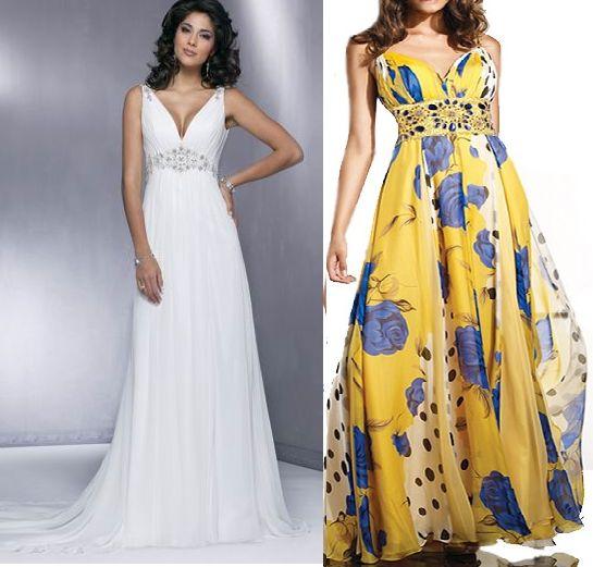 Vestido clássico com decote em V, muito versátil, pois pode ser feito em floral ou liso, com ou sem renda. A parte superior pode ser feita com pence ou drapeada, como sugere as imagens. Segue esquema de modelagem do tamanho 36 ao 56.
