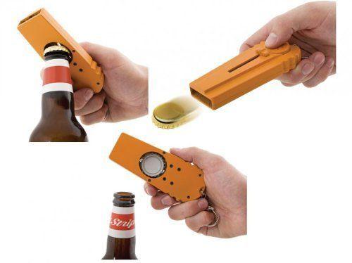 Der lustigste Schlüsselanhänger der Welt: Flasche öffnen und Kronkorken schleudern. So macht Bier trinken noch mehr Fun - ein must-have Gadget im Jahr 2015!