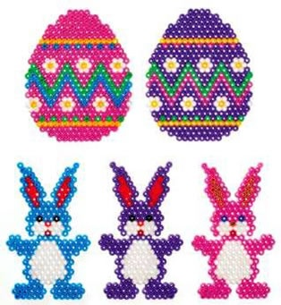 Hama/Perler bead Easter patterns.