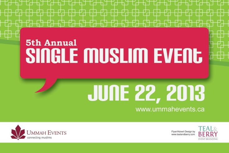5th Annual SIngle Muslim Event – June 22 | Muslim Calendar