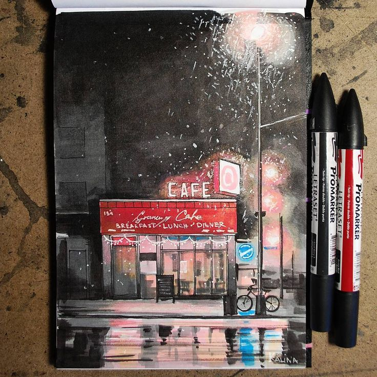 Начали заканчиваться маркеры.  #экстримскетчинг2 #kalachevaschool #sketch #markers #маркеры