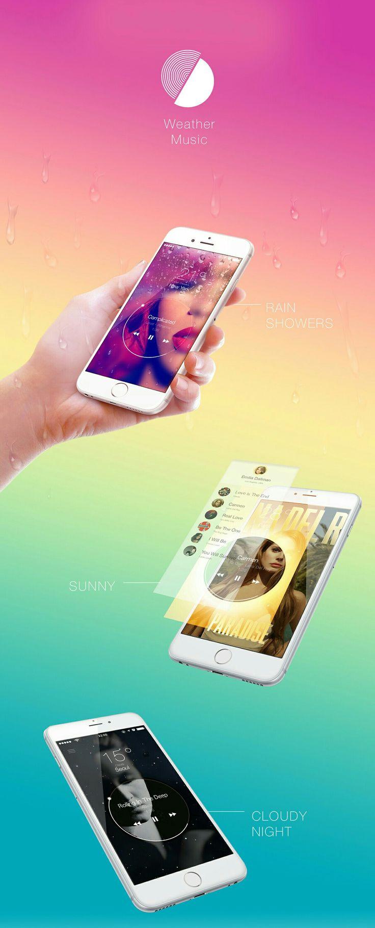Weather music app