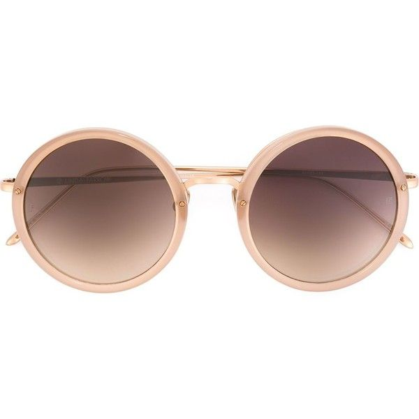 Linda Farrow '239' sunglasses ($535) ❤ liked on Polyvore featuring accessories, eyewear, sunglasses, glasses, extras, occhiali, linda farrow glasses, linda farrow, linda farrow eyewear and nude sunglasses