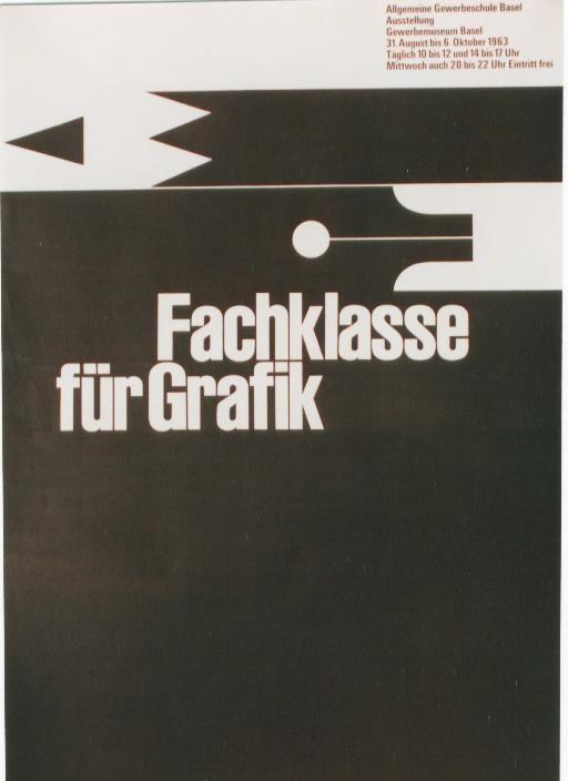 Fachklasse für Graphik, BaselGrafik 1963, Für Graphik, Für Grafik, Design Typography, De Klijn, Graphics Design, Modernist Design, Design Ads, Fachklass Für