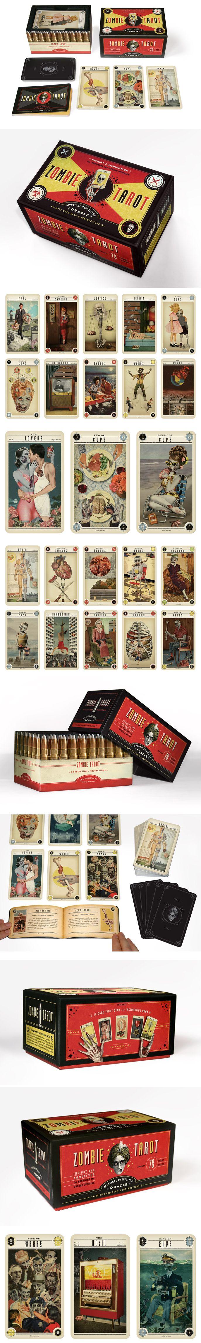 Zombie Tarot Cards | Designed By: Headcase Design - http://www.headcasedesign.com/     Designers / Illustrators: Paul Kepple, Ralph Geroni