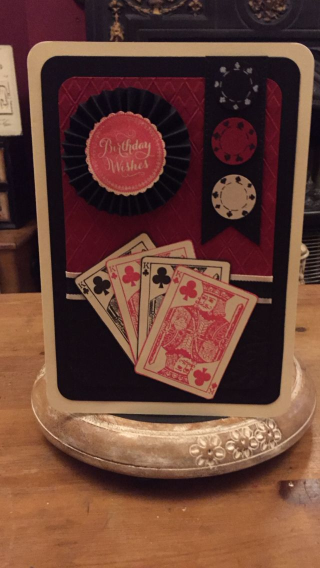 Card I made using Anna Griffin stamps and paper tricks embossing folder
