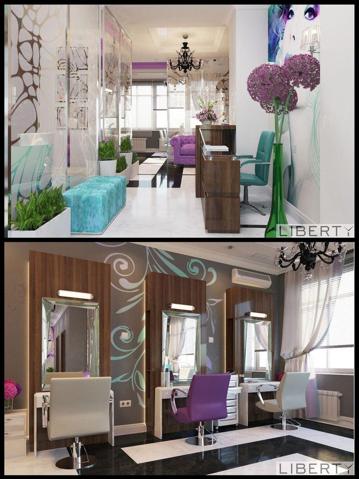 Дизайн салона красоты Яркий, запоминающийся - таким получился интерьер салона красоты от нашего дизайнера.