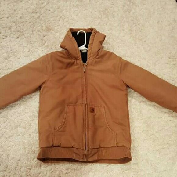 ↪Tan carhartt coat↩ Gently used carhartt winter coat. It's a youth XL but will fit a women's small. Carhartt  Jackets & Coats Utility Jackets