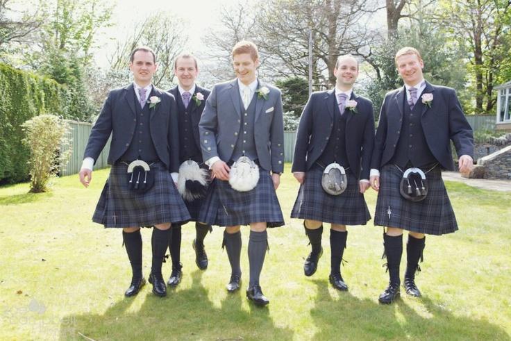groomsmen in kilts