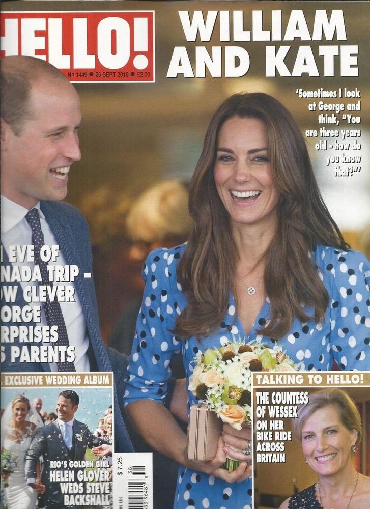 Hello magazine Kate Middleton Prince William Helen Glover Cindy Cowan Tess Daly