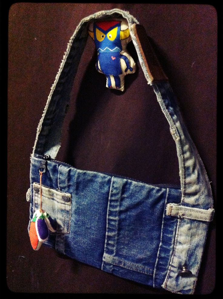 Denim bag DIY by Oil oiboil