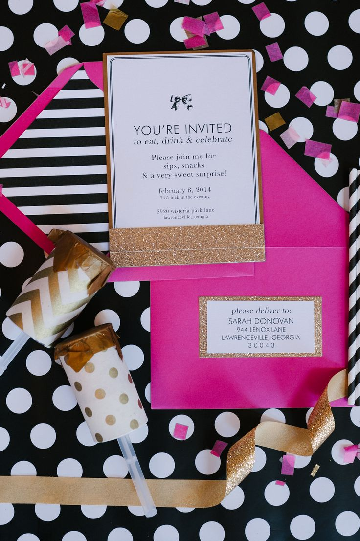 A Chic And Swanky Kate Spade Inspired Dinner Party. Bridal Party  InvitationsWedding ...