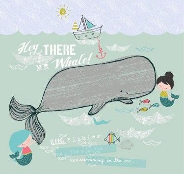 cute whale illustration :)