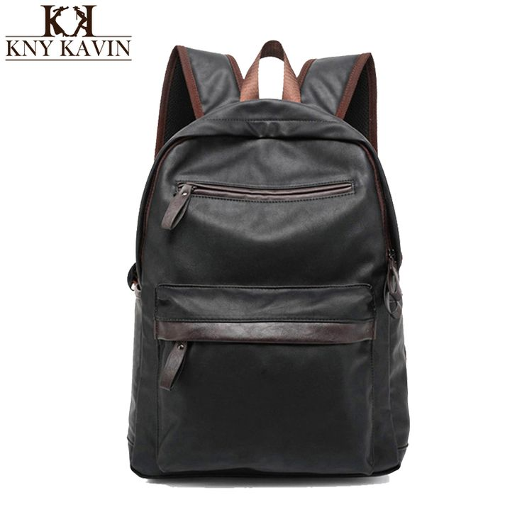 2016 New Arrival Oil Wax PU Leather Backpack For Men Western College Style Bags Men's Casual Backpack & Travel Bags For women