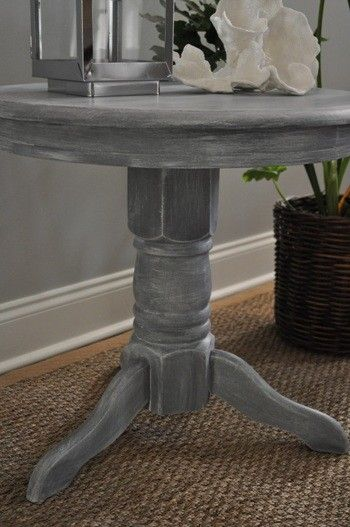 Grey white-washed DIY furniture