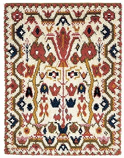 folklore rug from pori, finland