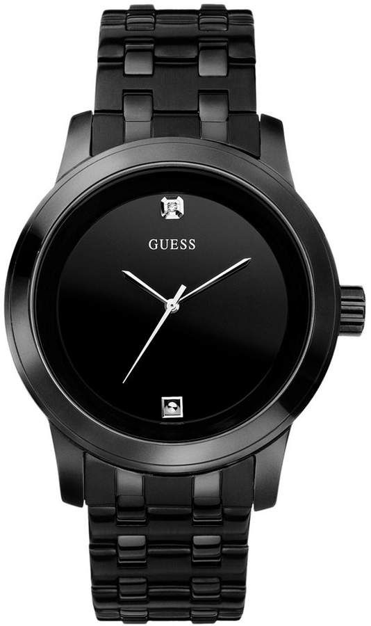 Ion Watch 38mm Black Guess Plated Men's Stainless Steel Bracelet MzVqpSUG