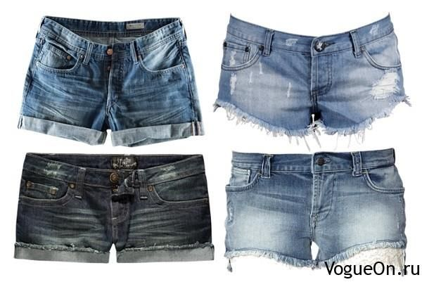 Фото джинсовые короткие рваные шорты