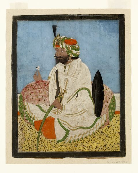 Gulab Singh (1792-1857) served Maharaja Ranjit Singh, the first Sikh ruler of the Panjab. Gulab conspired with the British before the first Anglo-Sikh war in 1845-46, and as a reward was given part of the Sikh territory. Lahore, India. ca. 1846