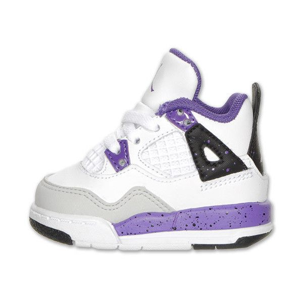 99806173bbb523 ... Girls Toddler Air Jordan Retro 4 Basketball Shoes ( 50) found on  Polyvore ...