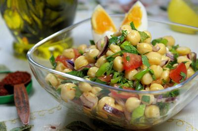 Kikærte salat (Nohut salatasi/Piyazi)