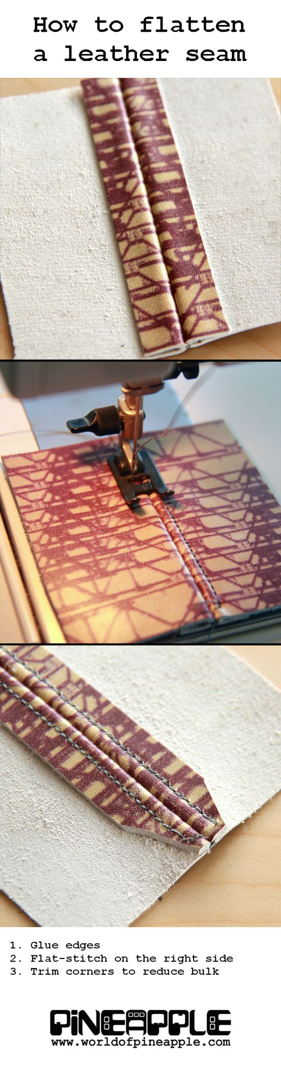 Leather Sewing Tips & Tricks: How to flatten a leather seam.