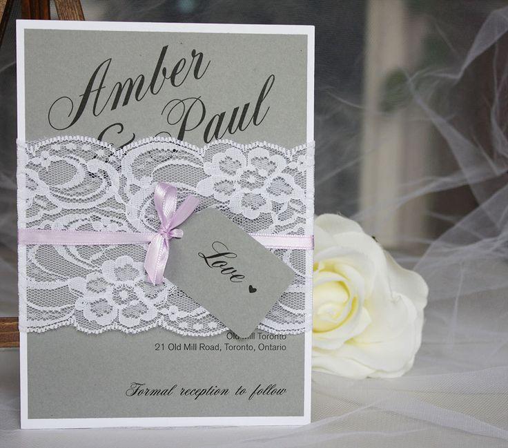 grey lavender wedding invitations grey purple by alwaysbyamber